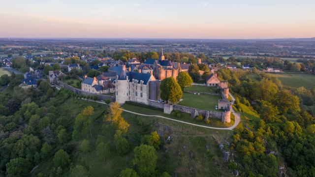 Vue aérienne de Sainte-Suzanne