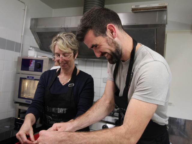 Atelier Cuisine Restaurant Le Beyel à Origné - Parmentier de Canard