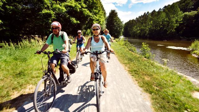 Randonnée vélo sur la Vélo Francette