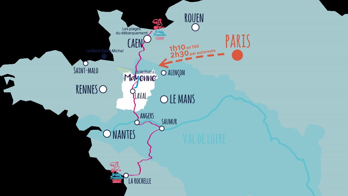 Comment venir en Mayenne ? | Portail du tourisme du département - La Mayenne