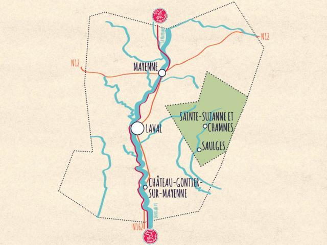 Carte de la Mayenne - Les Coëvrons