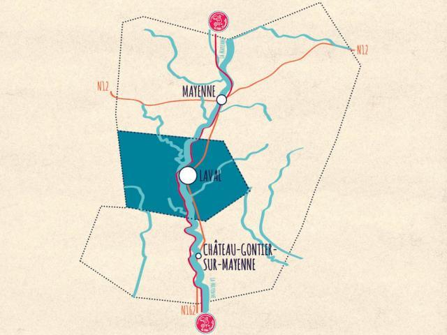 Carte de la Mayenne - Laval Agglomération